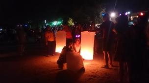 NYE Lanterns on the beach