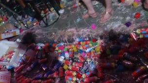 Silly string cans after NYE Patong